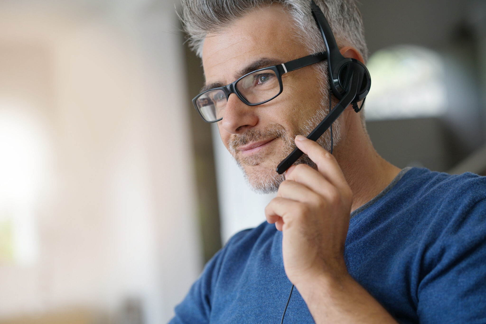 Sales Representative Teleworking From Home Office